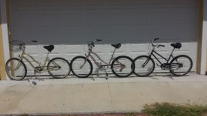 """My """"re-purposed"""" bikes."""